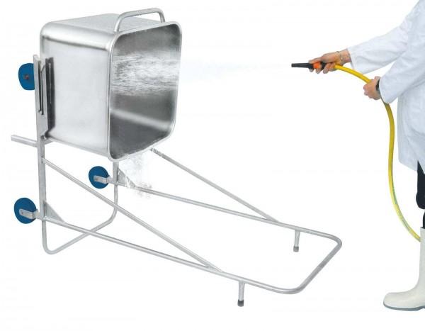 Reinigungsgestell für Beschickungswagen