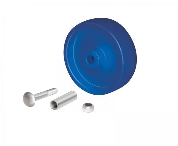 Radsatz Polyamid 125 mm für Rollis