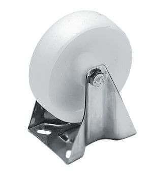 Bockrolle PA, 100 mm, mit VA-Gehäuse